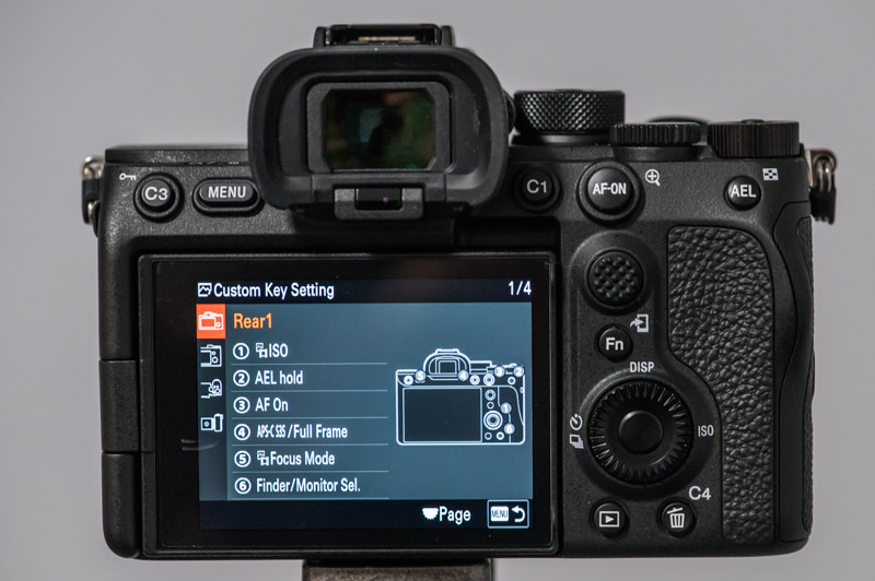 Sony A7S III settings custom