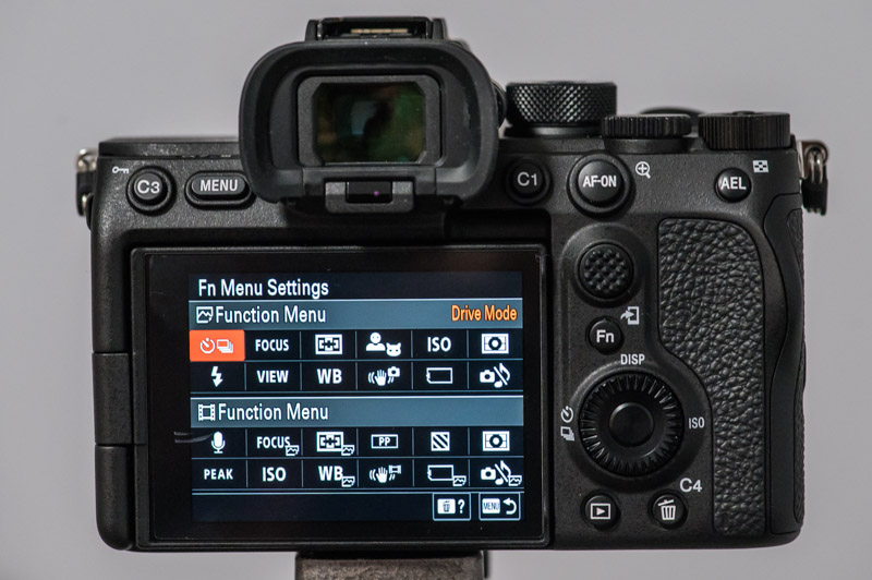 Sony A7S III function menu