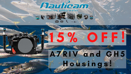 Nauticam A7R IV and GH5(s) housings on sale