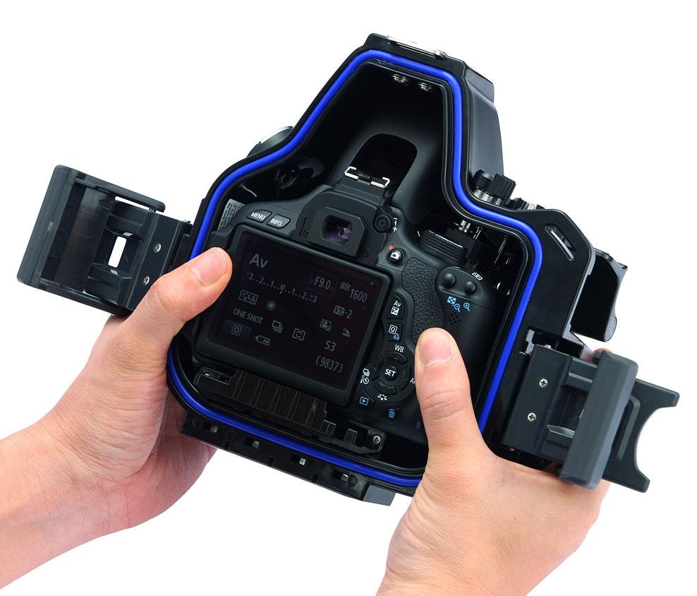 Sea sea rdx 600d underwater housing for the canon t3i for Housse canon eos 600d