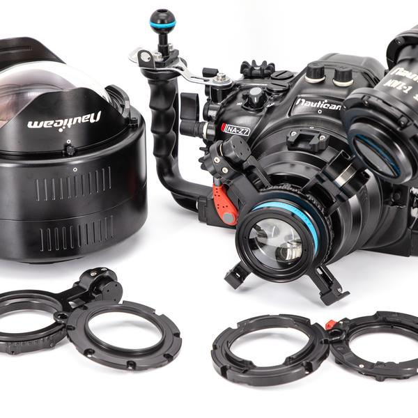 The Z7 housing by Nauticam supports various lenses for underwater use, from wide angle to macro