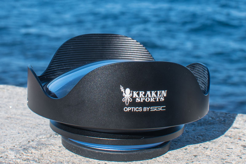 Kraken compact wide angle lens underwater review