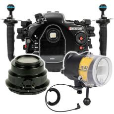 Nauticam D7200 Housing, Strobe and Port Package