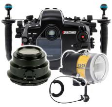 Nauticam Canon 7D Mark II Housing, Strobe and Port Package