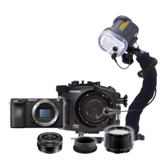 Fantasea Sony A6500 Camera, Housing and YS-03 Strobe Package