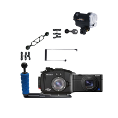 Fantasea RX100 III, IV, V Camera,Housing and YS-01 Strobe Package