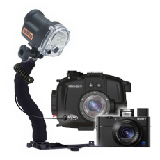 Fantasea RX100 III, IV, V Camera,Housing and YS-03 Solis Strobe Package