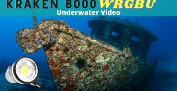 Underwater Video with the Kraken Hydra 8000 WRGBU (with Dome)