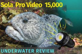 Light & Motion Sola 15,000 Pro Video Light Underwater Review