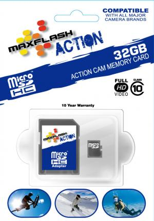 MAX-Flash 32BG micro SD card for GoPro cameras