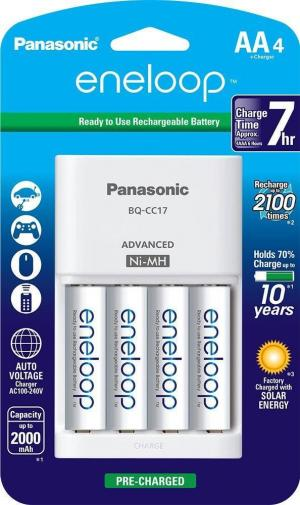 Eneloop AA Charger with 4 x AA Batteries