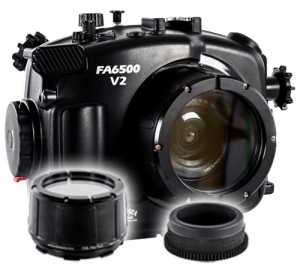 Fantasea Sony A6500 A6300 V2 Housing, Port and Lens Gears Package