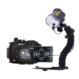 Fantasea Canon G7X II Camera, Housing and YS-03 Strobe Package