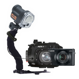 Fantasea Canon G7X II Camera, Housing and YS-03 Solis Strobe Package