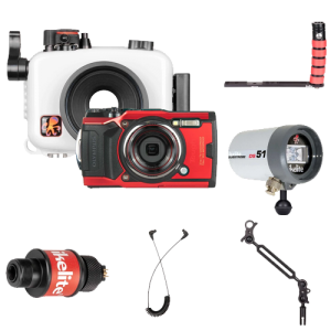 Ikelite Olympus TG-6 Camera, Housing, Strobe Package
