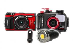 Olympus TG-5 Housing, Camera and Sola 3000 Video Light Package