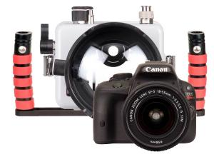 Ikelite Canon Rebel SL1 Camera, Housing (DLM/C) and Tray Package