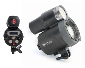 Side and Back of iTorch Symbiosis Pro Strobe with Video Light SS-2R (4,000 Lumens)