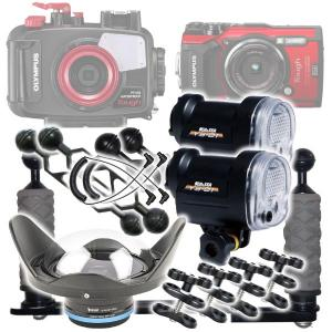 Ultimate Wide Angle Package for Olympus TG-5 & Underwater Housing