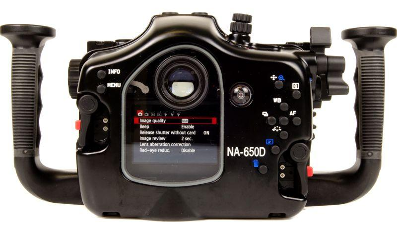 Nauticam Canon T4i T5i underwater housing for Canon 650D 700D